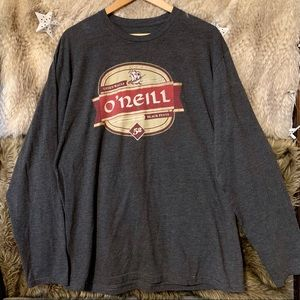 O'Neill Gray Long Sleeve Graphic T-Shirt